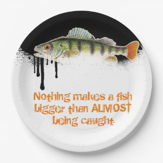 Fun Colorful Fish on blended Black to White base Paper Plate