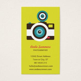 Fun Colorful FishEye Camera Photographer Business Card