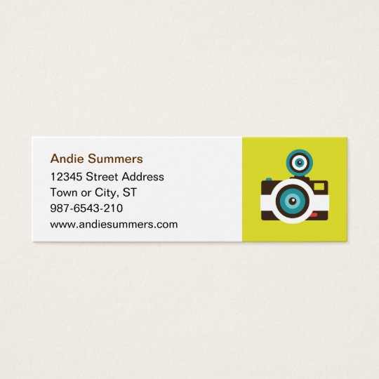 Fun Colorful FishEye Camera Photographer Mini Business Card