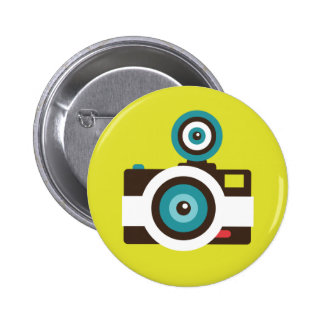 Fun Colorful FishEye Camera Photographer Pinback Button