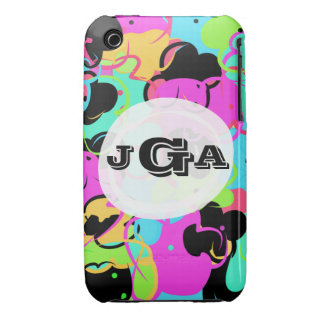 Fun colorful flower iPhone 3 case
