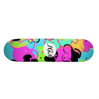 fun colorful flower skateboard deck
