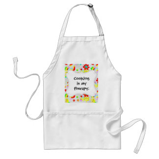 Fun Colorful Flowers Butterflies Birds Spring Adult Apron