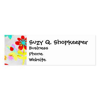 Fun Colorful Flowers Butterflies Birds Spring Business Card Templates