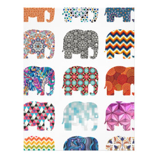 fun colorful funky elephant design letterhead