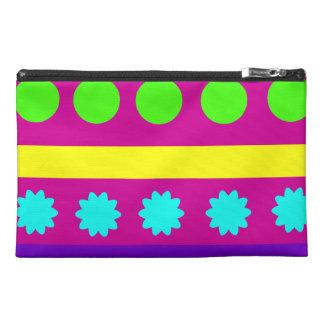 Fun Colorful Fuschsia Geometric Shapes Stripes Travel Accessory Bags