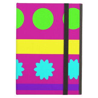 Fun Colorful Fuschsia Geometric Shapes Stripes Cover For iPad Air