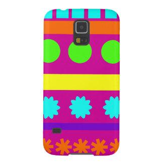 Fun Colorful Fuschsia Geometric Shapes Stripes Galaxy S5 Case