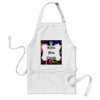 Fun Colorful Geometrical Shapes Circles Squares Adult Apron
