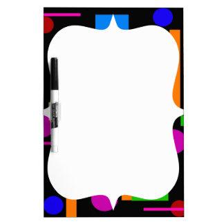 Fun Colorful Geometrical Shapes Circles Squares Dry Erase Board