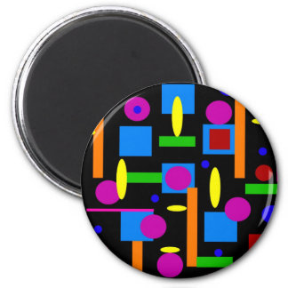 Fun Colorful Geometrical Shapes Circles Squares Magnet