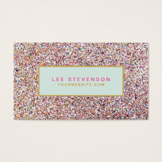 Fun Colorful Glitter Beauty Salon and Boutique Business Card