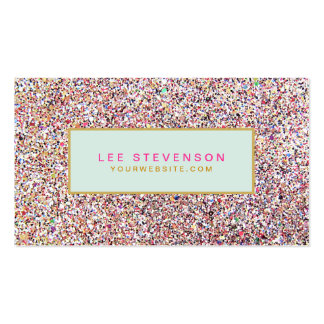 Fun Colorful Glitter Beauty Salon and Boutique Double-Sided Standard Business Cards (Pack Of 100)