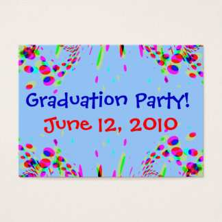 Fun Colorful Graduation Party! Card