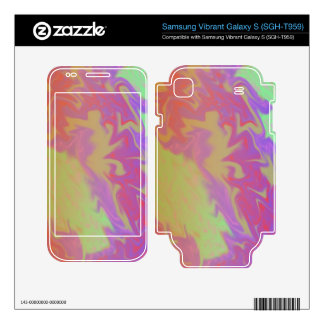Fun Colorful green yellow red artsy abstract Samsung Vibrant Decals