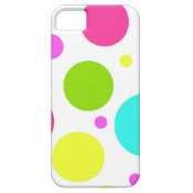 Fun Colorful Hot Pink Blue Green Polka Dots iPhone 5 Cover
