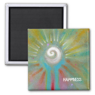 Fun colorful inspirational abstract art customized magnet