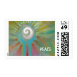 Fun colorful inspirational abstract art customized stamps