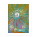 Fun colorful inspirational abstract art customized post cards