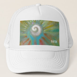 Fun colorful inspirational abstract art customized trucker hat