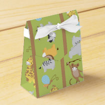 Fun Colorful Jungle Safari Animal Pattern Favor Box