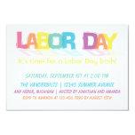 Fun Colorful Labor Day 3.5x5 Paper Invitation Card