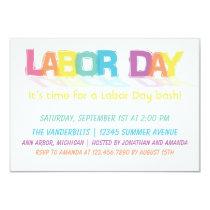 Fun Colorful Labor Day Invitation