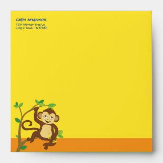 Fun Colorful Little Monkey Envelope