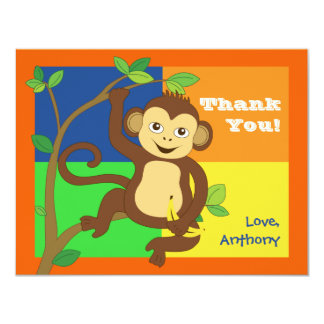 Fun Colorful Little Monkey Note Card