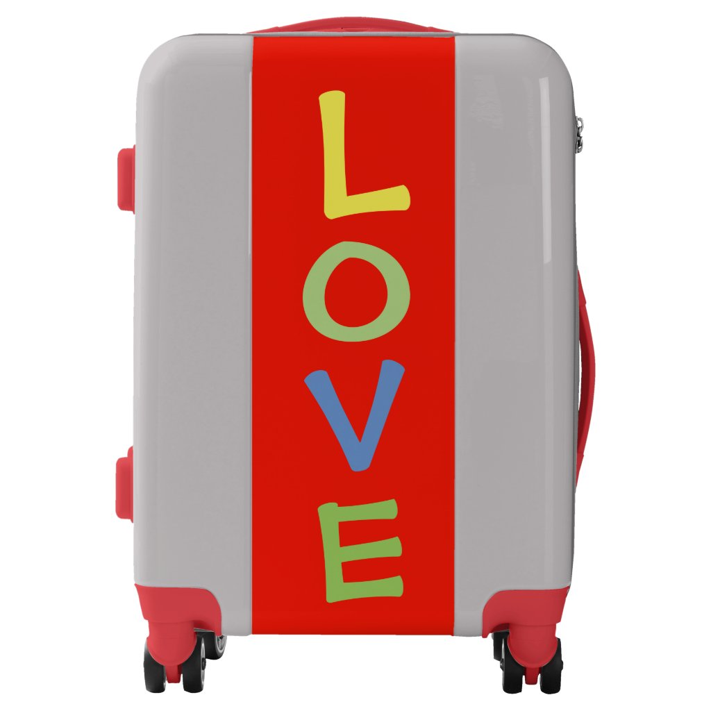Colorful LOVE Suitcase