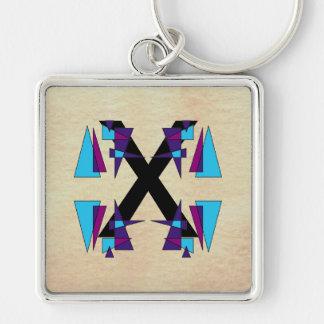 Fun Colorful Monograms Alphabets CricketDiane Keychain