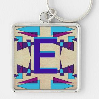 Fun Colorful Monograms CricketDiane Keychain