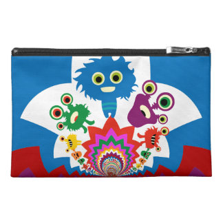 Fun Colorful Monsters Kaleidoscope Pattern Travel Accessory Bags