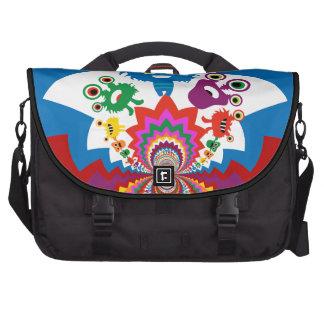 Fun Colorful Monsters Kaleidoscope Pattern Laptop Commuter Bag