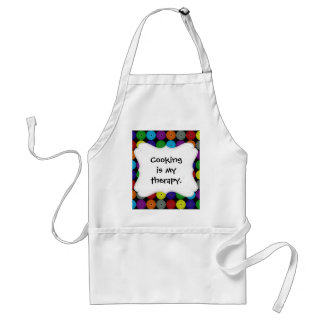 Fun Colorful Multi Colored Circles Disks Buttons Adult Apron
