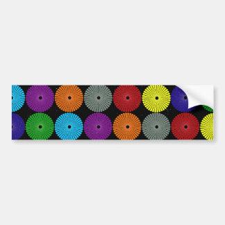 Fun Colorful Multi Colored Circles Disks Buttons Bumper Sticker