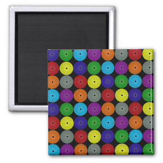 Fun Colorful Multi Colored Circles Disks Buttons Magnet