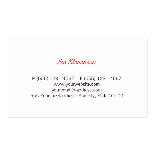 Fun Colorful Multi Stripes  Business Card (back side)