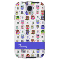 Fun Colorful Owls Samsung S4 Phone Case