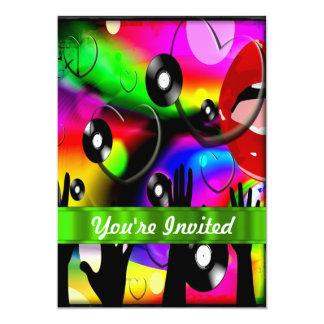 Fun colorful  party design 5x7 paper invitation card