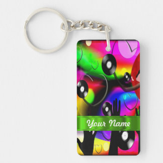 Fun colorful party design acrylic keychains