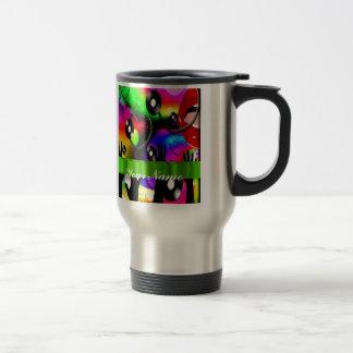Fun colorful  party design travel mug