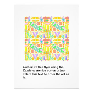 Fun colorful pattern abstract symbols bright color full color flyer