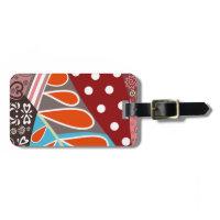 Fun Colorful Pattern Luggage Tags