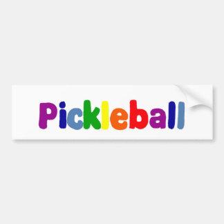 Fun Colorful Pickleball Letters Art Bumper Sticker