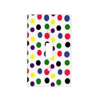 Fun Colorful Polka Dot Light Switch Plate