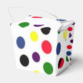 Fun Colorful Polka Dot Party Favor Boxes