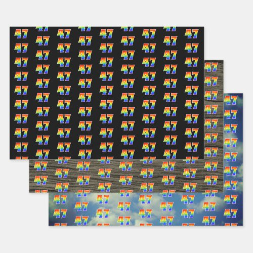Fun Colorful Rainbow Spectrum Pattern 47 Event  Wrapping Paper Sheets
