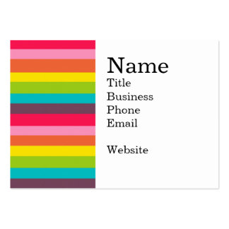 Fun Colorful Rainbow Stripes Girly Color Pattern Large Business Card