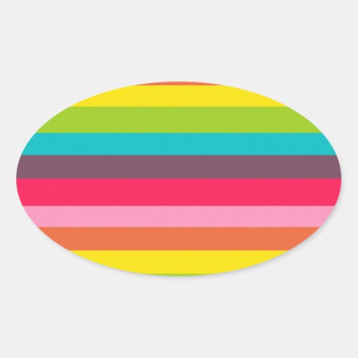 Fun Colorful Rainbow Stripes Girly Color Pattern Stickers